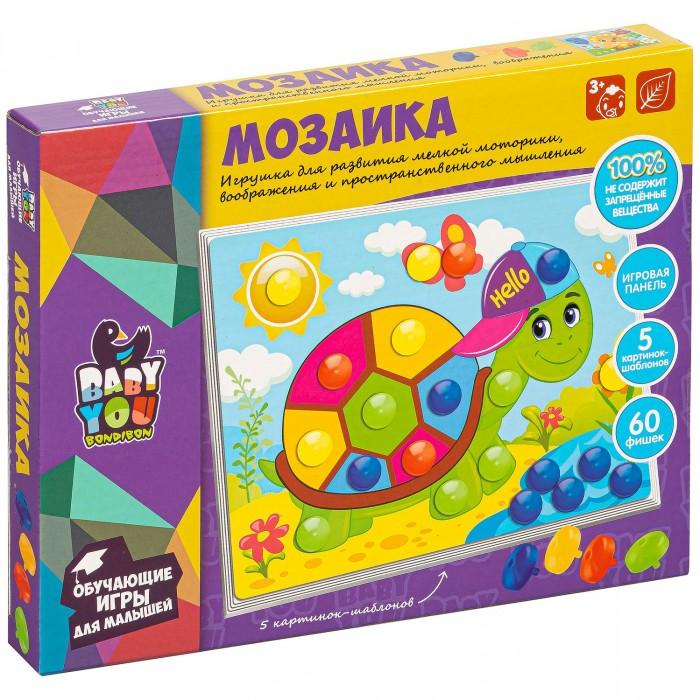 Мозаика Bondibon Мозаика для малышей (60 фишек-гвоздиков)