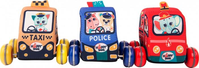 Купить Развивающие игрушки, Развивающая игрушка Happy Snail Набор мягких инерционных машинок для малышей