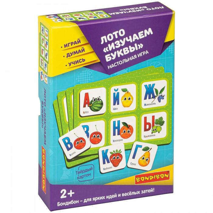 Купить Настольные игры, Bondibon Настольная игра лото Изучаем Буквы