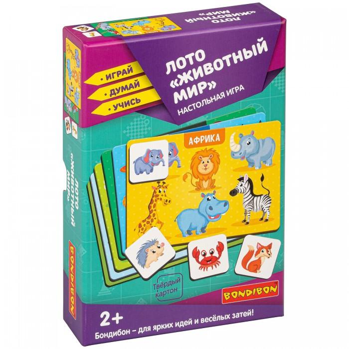 Купить Настольные игры, Bondibon Настольная игра лото Животный мир