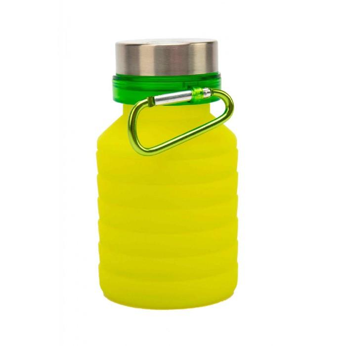 Купить Бутылки для воды, Bradex Бутылка для воды силиконовая складная с крышкой и карабином 500 мл
