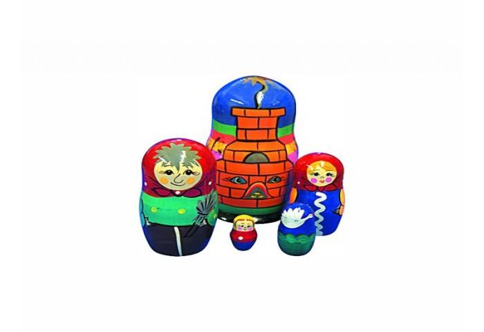 Деревянные игрушки RNToys Матрешка Сказка Гуси-Лебеди 5 в 1 rntoys матрешка сказка курочка ряба 5 в 1