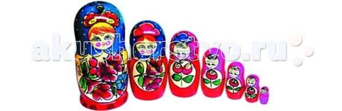 Купить Деревянные игрушки, Деревянная игрушка RNToys Матрешка 7 в 1 росписная