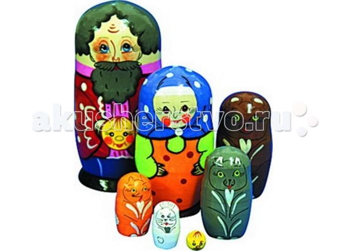 Купить Деревянные игрушки, Деревянная игрушка RNToys Матрешка Сказка Колобок 7 в 1
