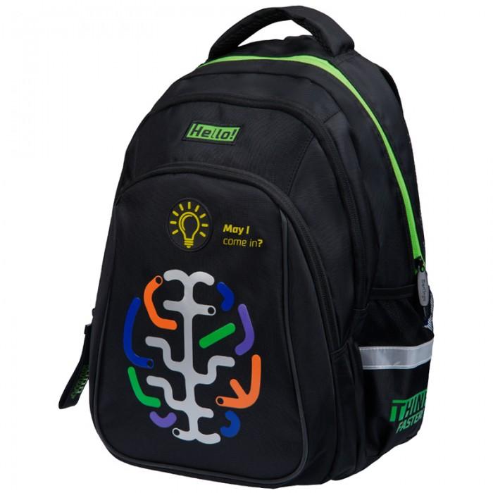 Школьные рюкзаки Berlingo Рюкзак Comfort Hello 38х27х18 см школьные рюкзаки berlingo рюкзак comfort next level 38х27х18 см