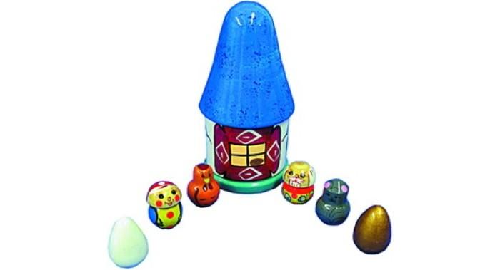 Деревянные игрушки RNToys Курочка Ряба Пальчиковый театр в домике