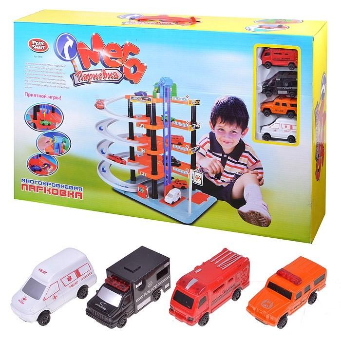 Машины Play Smart Мега Парковка Многоуровневый Паркинг 0848