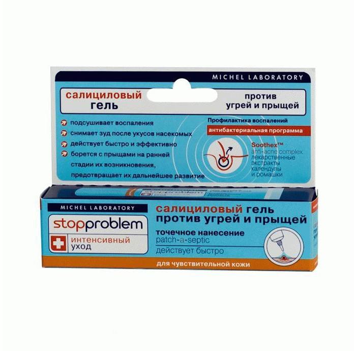 Косметика для мамы Stopproblem Гель салициловый против угрей и прыщей для чувствительной кожи 15 мл promoitalia салициловый пилинг pro салициловый пилинг pro 50 мл 10%