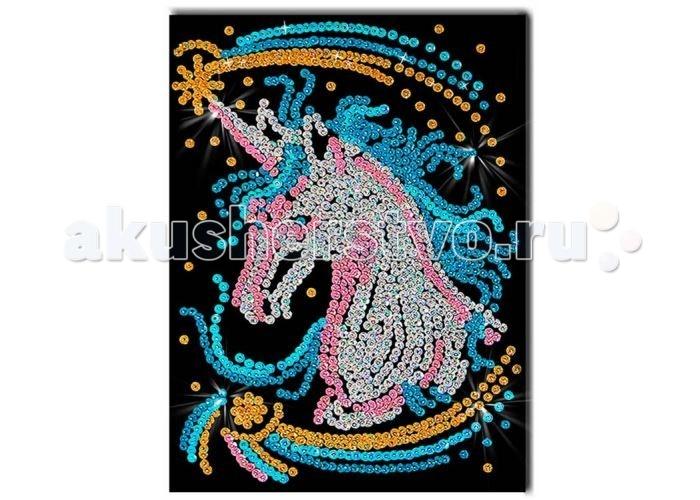Наборы для творчества Волшебная мастерская Мозаика из пайеток Единорог наборы для творчества волшебная мастерская мозаика из пайеток петушок