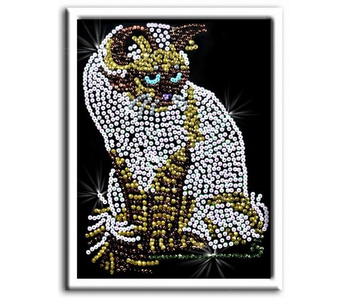 Наборы для творчества Волшебная мастерская Мозаика из пайеток Кошка наборы для творчества волшебная мастерская мозаика из пайеток золотая рыбка