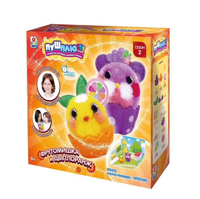 Наборы для творчества 1 Toy Пуш-Плюш Набор для творчества Фрутомишка и Цыплоранж