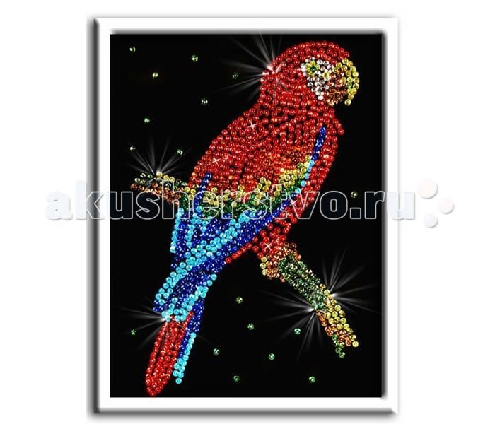 Наборы для творчества Волшебная мастерская Мозаика из пайеток Попугай какаду наборы для творчества волшебная мастерская мозаика из пайеток петушок