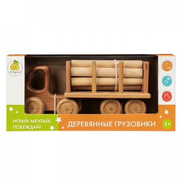 Деревянные игрушки ЯиГрушка Тягач с полуприцепом Лесовоз