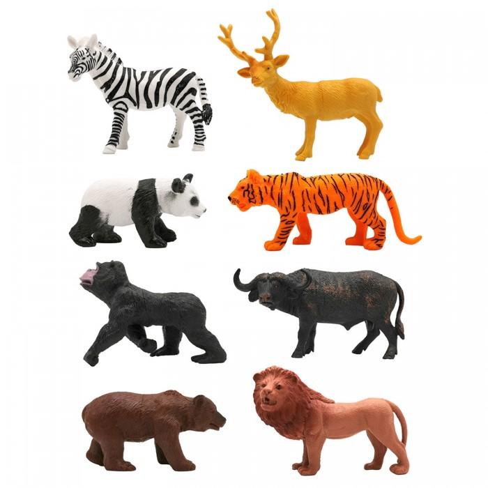 Купить Игровые фигурки, ZOOграфия Игровой набор Животные с картой обитания 8 шт. 200661815
