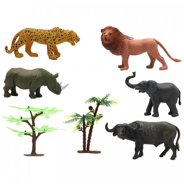 Купить Игровые фигурки, ZOOграфия Игровой набор Животные с картой обитания 6 шт. 200662227