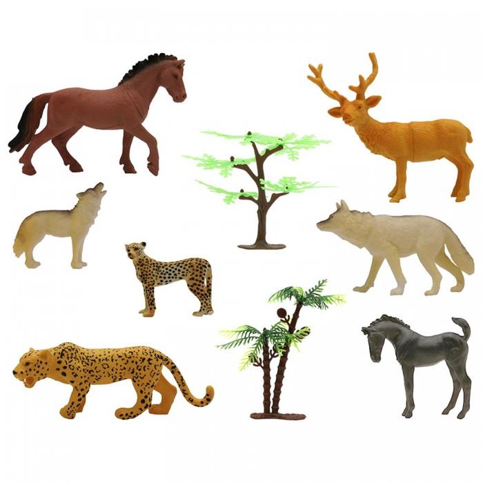 Купить Игровые фигурки, ZOOграфия Игровой набор Животные с картой обитания 8 шт. 200662229