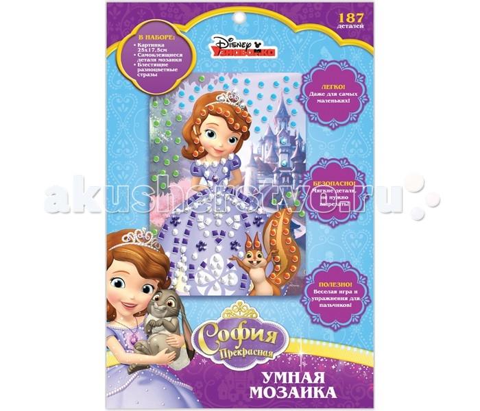 Наборы для творчества Disney Умная мозаика Disney София мозаика креатто умная мозаика волшебная фея