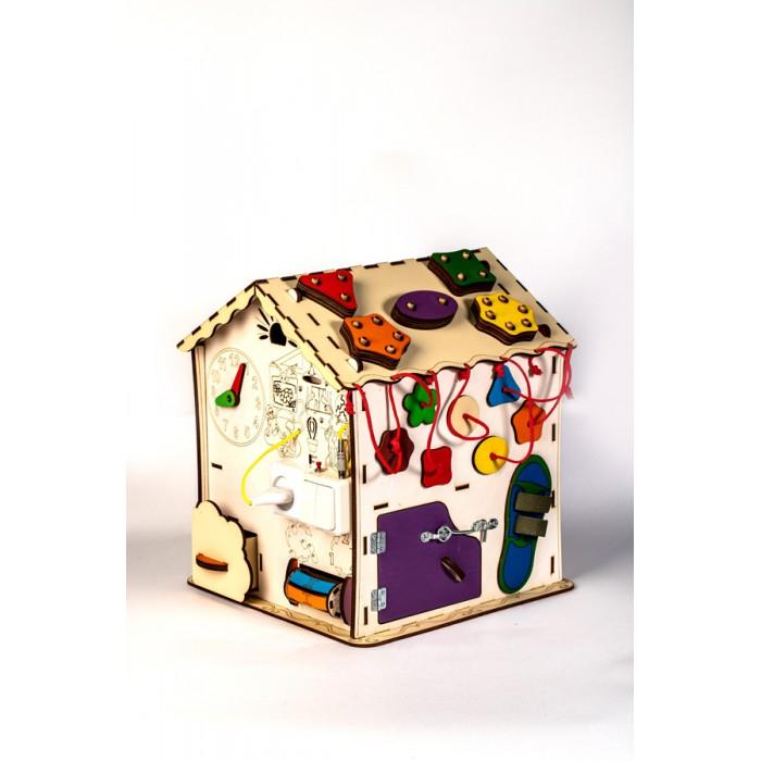 Деревянная игрушка MyLandToys Домик развивающий с электрикой №30