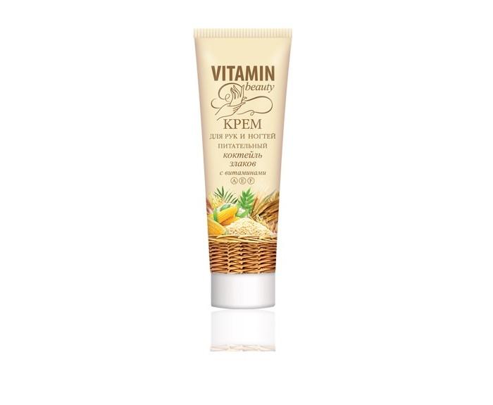 Косметика для мамы Vitamin Крем для рук и ногтей питательный Коктейль злаков 60 мл стилусы