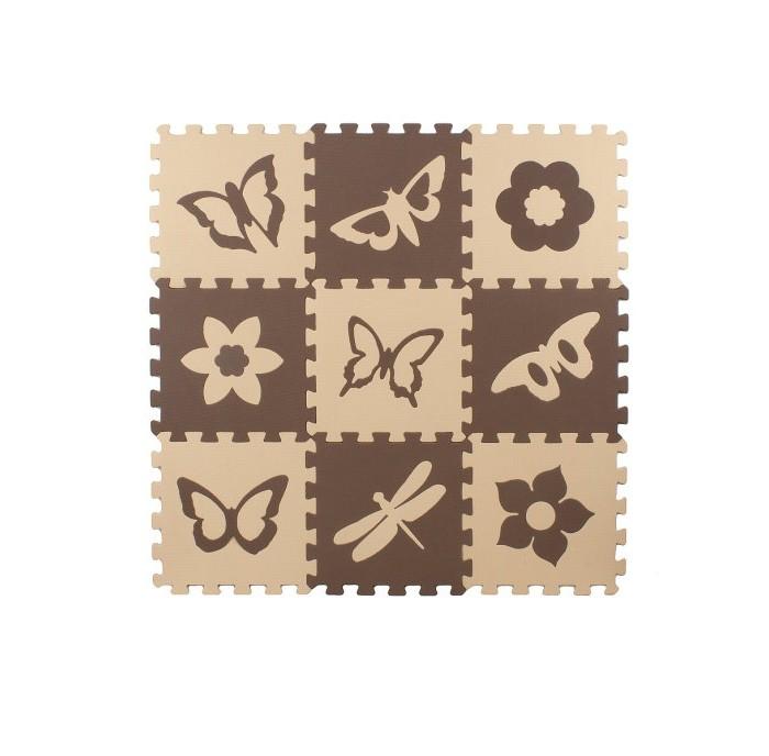 Картинка для Игровые коврики Eco Cover Мягкий пол универсальный Бабочки 2 33х33 см (9 деталей)