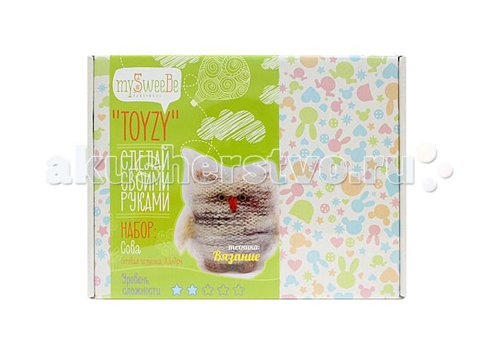 Наборы для творчества ToyzyKit Набор для вязания Сова пряжа для вязания пехорка секрет успеха цвет каштан 62 250 м 100 г 10 шт
