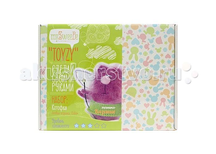 Наборы для творчества ToyzyKit Набор для вязания Котофея пряжа для вязания пехорка секрет успеха цвет каштан 62 250 м 100 г 10 шт