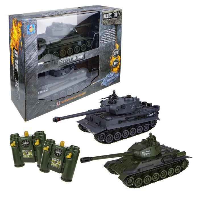 Радиоуправляемые игрушки 1 Toy Взвод танковый бой на радиоуправлении 2 танка