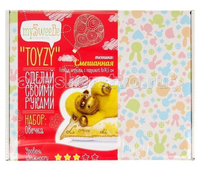 Наборы для творчества ToyzyKit Набор для вязания и валяния Овечка картины своими руками toyzykit картина шерстью сова ученица