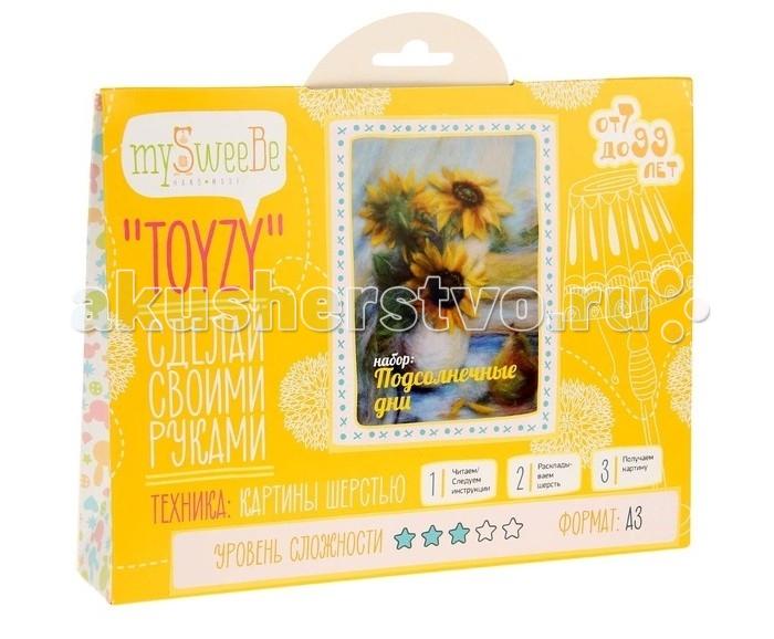 Картины своими руками ToyzyKit Картина шерстью Подсолнечные дни toyzykit картина шерстью сова в костюме панды