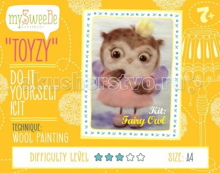 Картины своими руками ToyzyKit Картина шерстью Сова-фея toyzykit картина шерстью сова в костюме панды