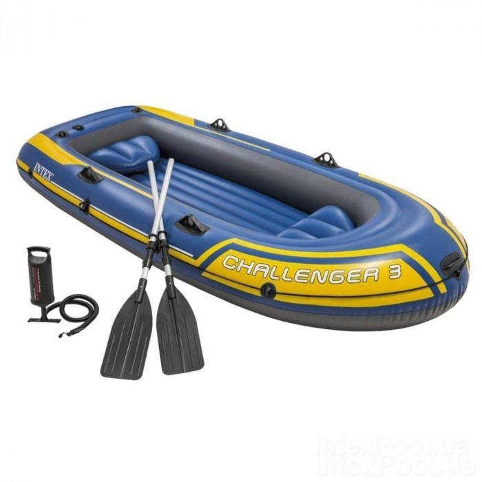 Матрасы для плавания Intex Лодка Challendger-3