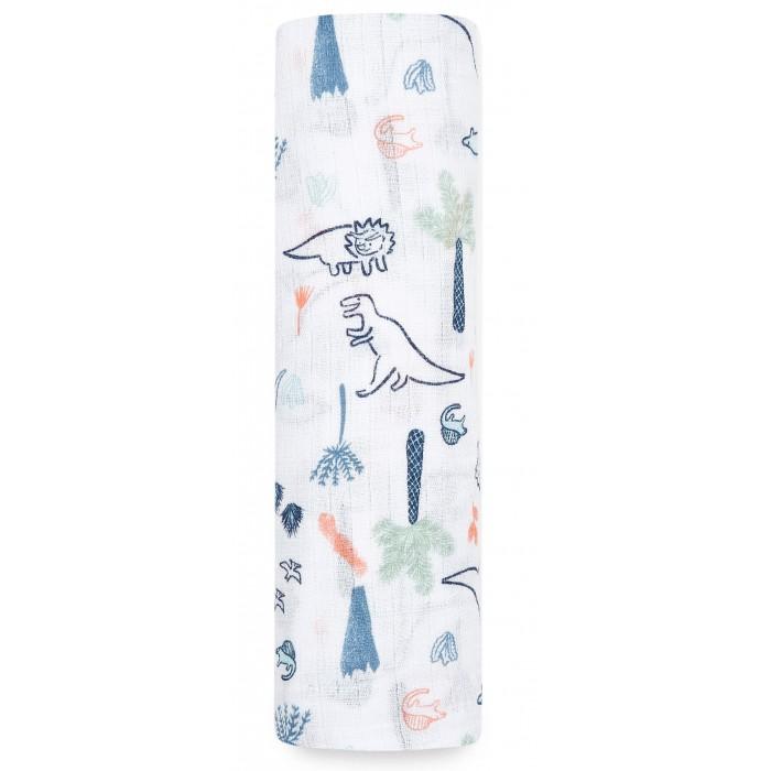 Пеленки, Пеленка Aden&Anais муслиновая Dinotime 112х112  - купить со скидкой