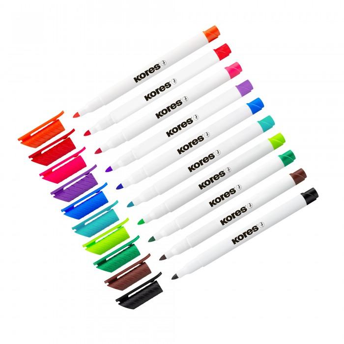 Купить Канцелярия, Kores Набор маркеров для белых досок толщина линии 2 мм 10 цветов