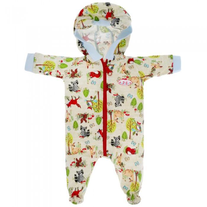 Карапуз Одежда для кукол Комбинезон звери 40-42 см