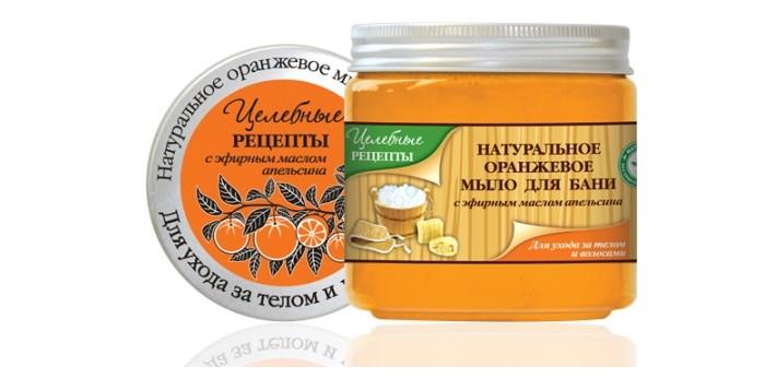 Косметика для мамы Целебные рецепты Натуральное мыло для бани Оранжевое 500 мл косметика и мыло для бани
