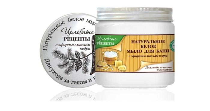 Косметика для мамы Целебные рецепты Натуральное мыло для бани Белое 500 мл косметика и мыло для бани