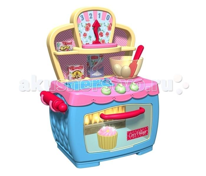 HTI Игрушка Волшебная электронная печкаИгрушка Волшебная электронная печкаНабор Волшебная электронная печка включает в себя духовой шкаф с крутящимися регуляторами температуры, пирожное, кекс, булочку, миску, скалку, лопатку, два яйца и другие продукты.   Сверху над печкой расположены полочки, противень и весы для взвешивания продуктов.   Эта печка подарит вашей малышке настоящие моменты волшебства!   Представьте, вы ставите в духовку пирожное, а оно поднимается, как на дрожжах. Кладете туда кекс, и он начинает мигать огоньками. А булочка из белой становится золотистой!   Элементы набора выполнены из прочного пластика и абсолютно безопасны для ребенка. Необходимо 3 батарейки 1,5V типа АА (не входят в комплект).<br>