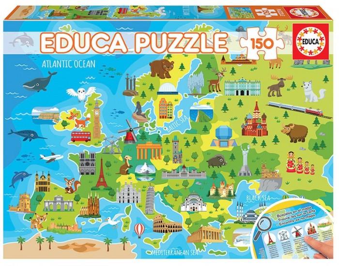 Пазлы Educa Пазл Карта Европы 150 деталей