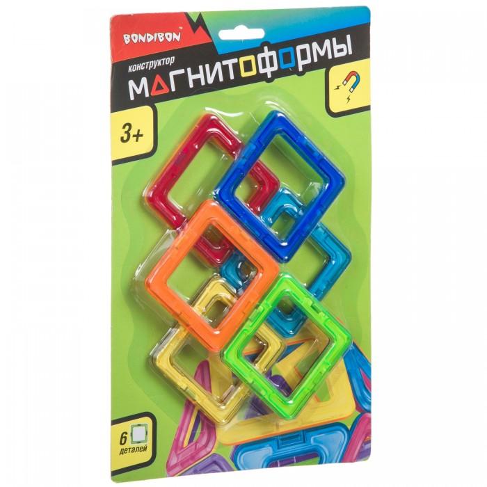 Картинка для Конструкторы Bondibon Магнитный Магнитоформы 6 квадратов