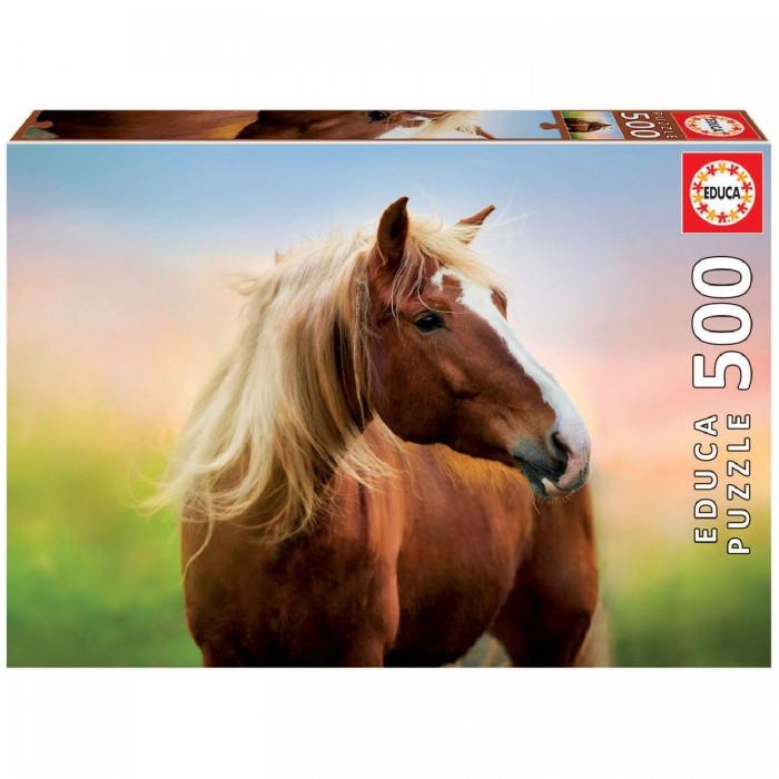 Купить Пазлы, Educa Пазл Лошадь на рассвете 500 деталей