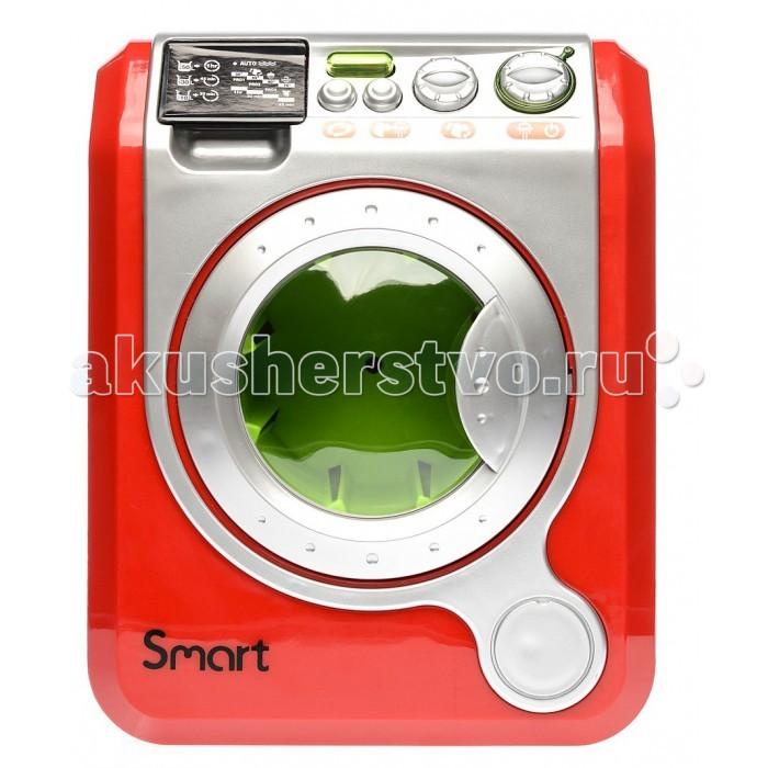 HTI Игрушка Стиральная машина SmartИгрушка Стиральная машина SmartСтиральная машина Smart.  У машинки открывается дверца. Вращается барабан, который можно заполнить «бельем».   Во время «стирки» раздается шум механизма, как у настоящей стиральной машины.   Нажатием на кнопочки можно выбирать режимы стирки, включать звуковые и световые эффекты. Барабан светится. Игрушка работает от 3-х «пальчиковых» батареек 1,5V (AA, LR6). Батарейки входят в комплект<br>