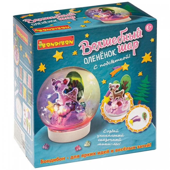 Купить Наборы для творчества, Bondibon Набор для творчества Волшебный шар Оленёнок с подсветкой