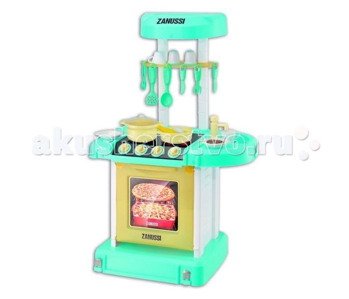 HTI Портативная электронная кухня ZanussiПортативная электронная кухня ZanussiПортативная многофункциональная кухня Zanussi с раковиной, плитой с конфорками и духовкой.   Реалистичные звуковые эффекты, 19 аксессуаров. Складывается в чемоданчик. Батарейки: 3 x AA (не в комплекте). Для детей от 3-х лет.<br>
