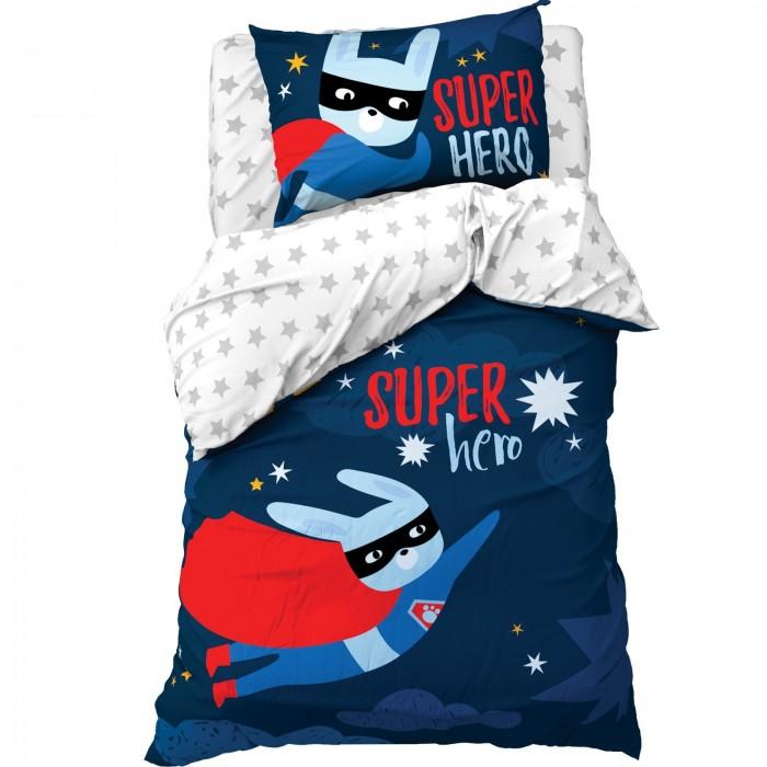 Постельное белье 1.5-спальное Этель 1.5 спальное Super hero (3 предмета)