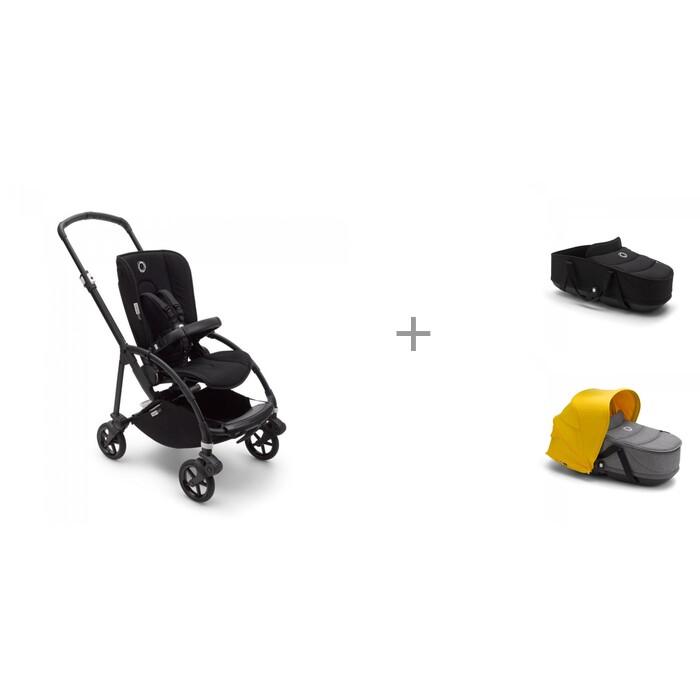Bugaboo База для коляски Bee 6 Black с люлькой-переноской bassinet complete и сменным капюшоном База для коляски Bee 6 Black с люлькой-переноской bassinet compl