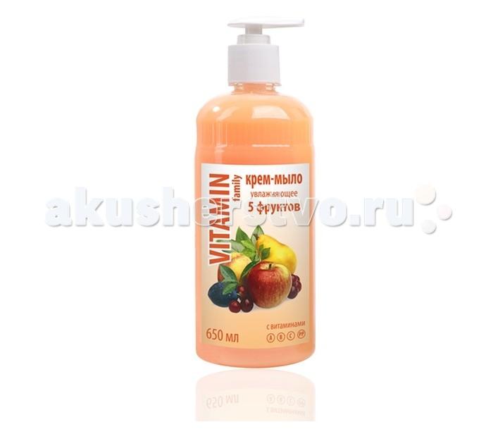 Косметика для мамы Vitamin Крем-мыло 5 трав 650 мл косметика и мыло для бани
