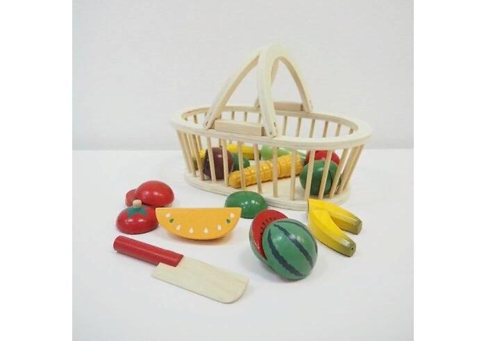 Деревянная игрушка Magni Набор фруктов в корзине 2504