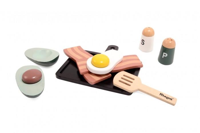 Деревянная игрушка Magni Набор Завтрак Яичница и бекон