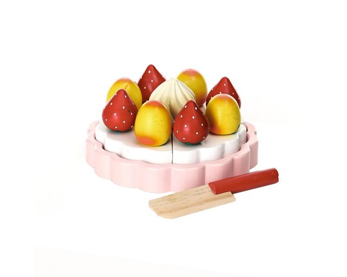 Деревянная игрушка Magni Торт Клубничный