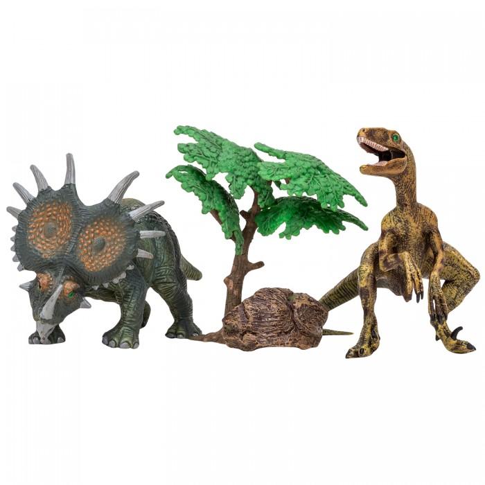 Купить Игровые фигурки, Masai Mara Набор Динозавры и драконы для детей Мир динозавров (4 предмета)